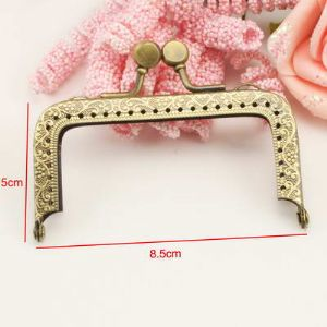 Bag frames, High quality metal alloy, Green-Yellow, 8.5cm x 6.5cm x 0.5cm, 1  piece, (FKK013)
